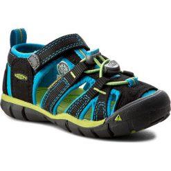 Sandały KEEN - Seacamp II Cnx 1016426 Black/Blue Danube. Czarne sandały chłopięce Keen, z materiału. W wyprzedaży za 199,00 zł.