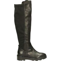 Kozaki ocieplane - 26739 NERO100. Czarne buty zimowe damskie marki Kazar, ze skóry, na wysokim obcasie. Za 299,00 zł.