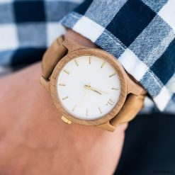 Drewniany zegarek męski classic 43 mm n018. Szare zegarki męskie Pakamera. Za 339,00 zł.