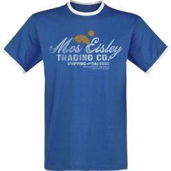 Star Wars Mos Eisley Trading T-Shirt niebieski/biały. Niebieskie t-shirty męskie z nadrukiem marki Reserved, l, z okrągłym kołnierzem. Za 62,90 zł.