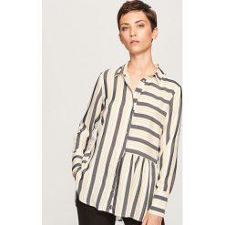 Koszula w paski - Wielobarwn. Szare koszule damskie marki Reserved, w paski. Za 99,99 zł.