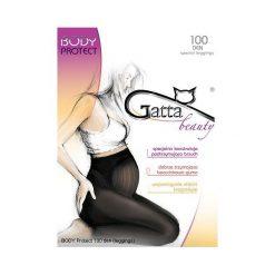 Legginsy ciążowe: BODY PROTECT 100 – Legginsy ciążowe 100 DEN  W.00 GRAFIT r. 3-M