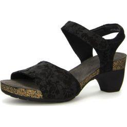 """Rzymianki damskie: Skórzane sandały """"Traudi"""" w kolorze czarnym"""
