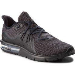 Buty NIKE - Air Max Sequent 3 921694 010 Black/Anthracite. Czarne buty do biegania męskie Nike, z materiału, nike air max. W wyprzedaży za 299,00 zł.