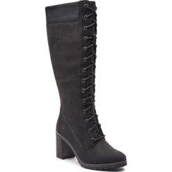 Kozaki TIMBERLAND - Allington 14In Side A1KBU Black. Czarne buty zimowe damskie Timberland, z gumy, na obcasie. W wyprzedaży za 569,00 zł.