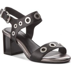 Sandały damskie: Sandały TOMMY HILFIGER – Blocky Mid Heel Metallic Eyelets FW0FW02821  Black 990