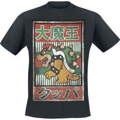 Super Mario Vintage Bowser T-Shirt czarny. Czarne t-shirty męskie z nadrukiem marki Super Mario, s. Za 74,90 zł.