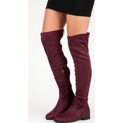 KLASYCZNE ZAMSZOWE MUSZKIETERKI. Czerwone buty zimowe damskie CM Paris, z zamszu. Za 114,00 zł.