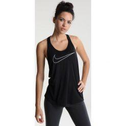 Topy sportowe damskie: Nike Performance TANK ELASTIKA  Koszulka sportowa black/vast grey