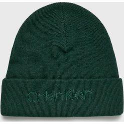 Calvin Klein - Czapka. Czarne czapki zimowe męskie Calvin Klein, z dzianiny. Za 159,90 zł.