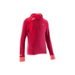 Bluza KIPRUN WARM. Czerwone bluzy dziewczęce rozpinane KALENJI, z długim rękawem, długie. Za 69,99 zł.