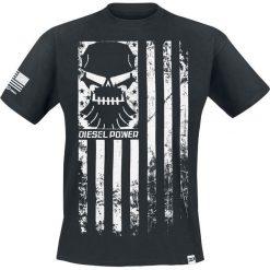 Diesel Power Gear Rank and File T-Shirt czarny. Czarne t-shirty męskie z nadrukiem Diesel Power Gear, l, z okrągłym kołnierzem. Za 74,90 zł.