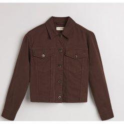 Jeansowa kurtka - Brązowy. Brązowe kurtki damskie jeansowe marki Reserved. Za 139,99 zł.