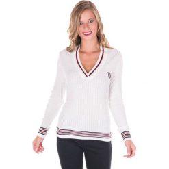 Sweter w kolorze białym. Białe swetry klasyczne damskie marki Giorgio di Mare, xs, z dzianiny. W wyprzedaży za 130,95 zł.
