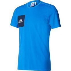 Adidas Koszulka męska Tiro 17 Tee niebieski r. M (BQ2660). Białe koszulki sportowe męskie marki Adidas, m. Za 96,00 zł.