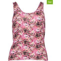 Podkoszulki damskie: Podkoszulki (3 szt.) w kolorze fioletowo-jasnoróżowym