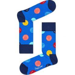 Happy Socks - Skarpety Smile. Niebieskie skarpetki męskie marki Quiksilver, z materiału, sportowe. W wyprzedaży za 27,90 zł.