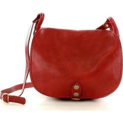 MICHELLE Duża torebka włoska na długim pasku Czerwona. Czarne listonoszki damskie marki Kazar, w paski, z tkaniny, na ramię, duże, z breloczkiem. Za 329,00 zł.