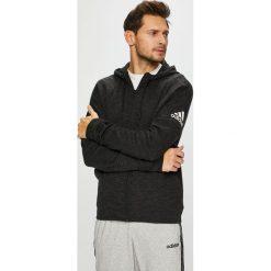 Adidas Performance - Bluza. Czarne bluzy męskie rozpinane marki adidas Performance, l, z nadrukiem, z bawełny, z kapturem. Za 299,90 zł.
