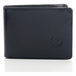 Czarny Ekskluzywny portfel męski Paolo Peruzzi. Czarne portfele męskie Paolo Peruzzi, ze skóry. Za 109,00 zł.