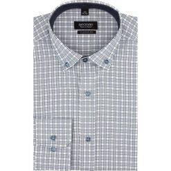 Koszule męskie: koszula bexley 2031 długi rękaw custom fit szary