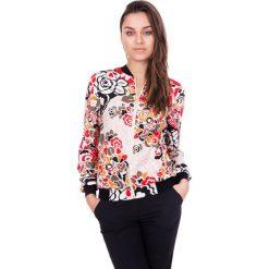 Bluzka we wzory ze ściągaczami  BIALCON. Różowe bluzki sportowe damskie marki BIALCON, na lato. W wyprzedaży za 167,00 zł.