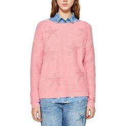 Swetry damskie: Sweter z okrągłym dekoltem, cienka dzianina