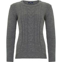 Swetry klasyczne damskie: Sweter w kolorze antracytowym