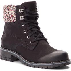 Trapery NESSI - 18428 Czarny 9. Czarne buty zimowe damskie marki Nessi, z materiału, na obcasie. W wyprzedaży za 259,00 zł.