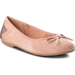 Baleriny damskie: Baleriny TOMMY HILFIGER - Elevated Suede Ballerina FW0FW03036 Silky Nude 297