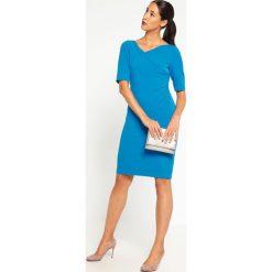 Sukienki hiszpanki: Adrianna Papell Sukienka etui flashy cerulean