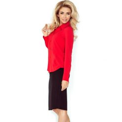 Koszula z baskinką - CZERWONA. Czerwone koszule damskie marki morimia, s, biznesowe. Za 109,99 zł.