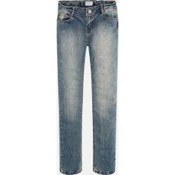 Mayoral - Jeansy dziecięce 128-167 cm. Niebieskie rurki dziewczęce Mayoral, z aplikacjami, z bawełny. Za 149,90 zł.