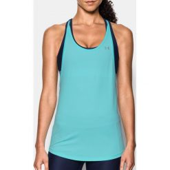 Under Armour Top HG Armour 2-in-1 Tank kolor niebieski r. XS (1303778-942). Niebieskie topy sportowe damskie Under Armour, xs. Za 133,34 zł.