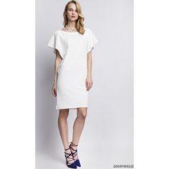 Sukienki hiszpanki: SUKIENKA Z ORYGINALNYMI RĘKAWAMI, SUK104 ecru