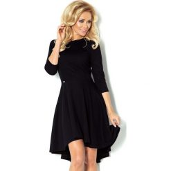 Sukienki: Czarna Sukienka z Szerokim Asymetrycznym Dołem
