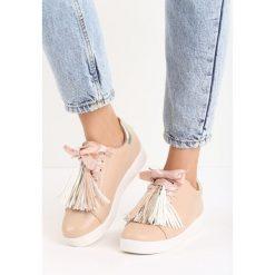 Beżowe Buty Sportowe Plaything. Brązowe buty sportowe damskie marki NEWFEEL, z gumy. Za 69,99 zł.