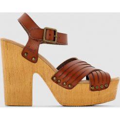 Rzymianki damskie: Sandały na koturnie COHEN