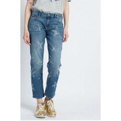 Hilfiger Denim - Jeansy. Niebieskie jeansy damskie marki Hilfiger Denim, z aplikacjami, z bawełny. W wyprzedaży za 299,90 zł.