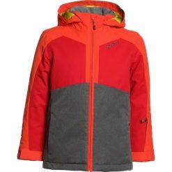 Ziener ABORO JUN  Kurtka narciarska grey iron melange. Niebieskie kurtki chłopięce sportowe marki bonprix, z kapturem. W wyprzedaży za 383,20 zł.