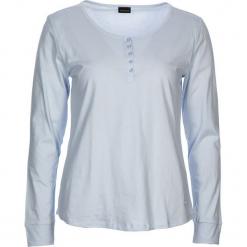 """Koszulka piżamowa """"Free Dreams"""" w kolorze błękitnym. Białe koszule nocne i halki marki LASCANA, w koronkowe wzory, z koronki. W wyprzedaży za 45,95 zł."""