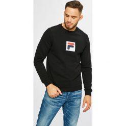 Fila - Bluza. Czarne bluzy męskie rozpinane Fila, l, z aplikacjami, z bawełny, bez kaptura. Za 299,90 zł.