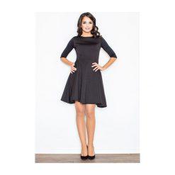 Sukienka Zoe M235 czarna. Czarne sukienki hiszpanki FIGL, m. Za 125,00 zł.