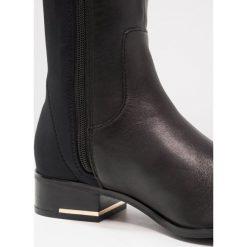 ALDO BIVIO Muszkieterki black. Czarne kowbojki damskie ALDO, z materiału. W wyprzedaży za 431,40 zł.