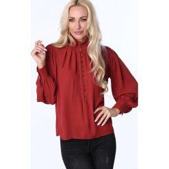 Koszula zapinana pod szyję ruda MP28540. Białe koszule damskie marki Fasardi, l. Za 63,20 zł.