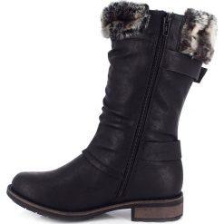 """Buty zimowe damskie: Kozaki """"Cyrielle"""" w kolorze czarnym"""
