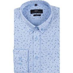Koszula SIMONE KDNS000178. Niebieskie koszule męskie na spinki Giacomo Conti, m, z nadrukiem, z bawełny, z długim rękawem. Za 199,00 zł.