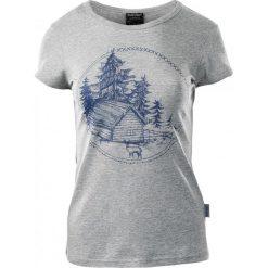 T-shirty damskie: Hi-tec T-SHIRT damski HOLZ GREY MELANGE / INSIGNIA BLUE r. S