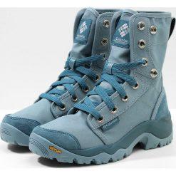 Columbia CAMDEN Buty trekkingowe storm grey ice. Niebieskie buty zimowe damskie Columbia, z materiału. W wyprzedaży za 455,20 zł.