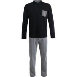 Piżamy męskie: HOM GEOMETRIC LONG SET Piżama black